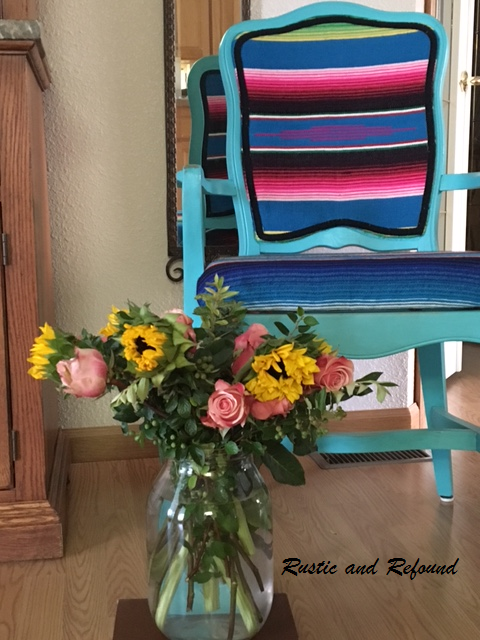 Florals and chair3