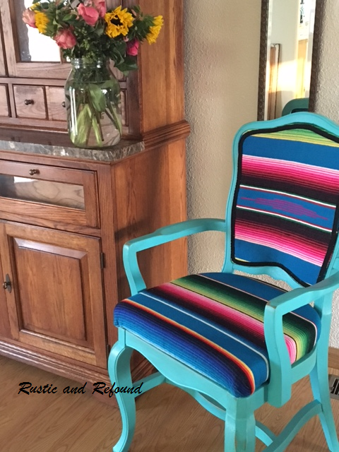florals and Serape chair