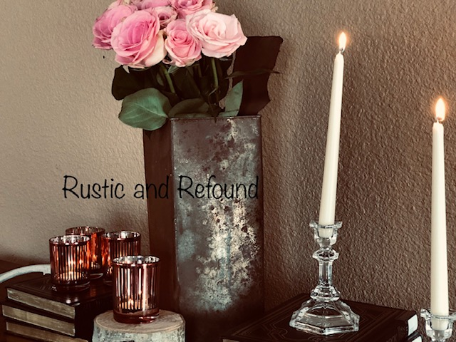 roses welding can and candles